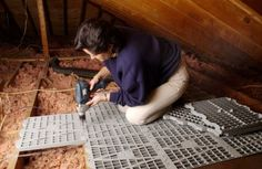 attic storage and organizing ideas | Depending on your climate, covering your attic insulation may lead to ...