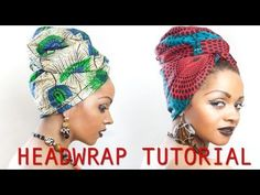 Headwrap tutorial #1 / Attaché de foulard, lesso, turban - YouTube