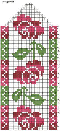 Arkisto on suljettu Crochet Mittens Free Pattern, Fair Isle Knitting Patterns, Filet Crochet Charts, Fair Isle Pattern, Crochet Flower Patterns, Knit Mittens, Knitting Charts, Knitting Designs, Knitting Stitches