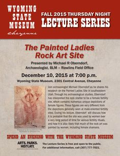 December 2015 Thursday Night Lecture Series at the Wyoming State Museum