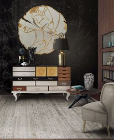 Exclusive sideboards are necessary in order to create a luxury home. These exquisite items are able to upscale any living room or dining area. #bocadolobo #luxuryfurniture #interiordesign #designideas #livingroom #modernlivingroom #decorideas #homeandecoration #livingroomideas #interiodesign #decor #homedecor #livingroomdecor #interiordesigninspiration #interiorinspiration #luxuryinteriordesign #homedecor #decorations #homedecor #buffetsandcabinets Luxury Interior Design, Contemporary Interior, Interior Design Inspiration, Design Ideas, Design Projects, Design Trends, Mirror Inspiration, Design Design, Contemporary Cabinets