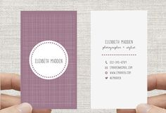 Double sided Business Card, Calling Card, Printable Custom Digital Download DIY, Double sided