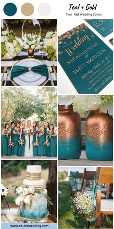 Pin By Michelle Vargas On 2nd Time Around In 2020 Teal Fall Wedding Fall Wedding Colors Wedding Theme Colors