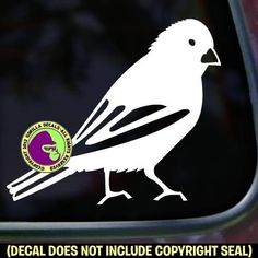 Canary Bird Vinyl Decal Sticker