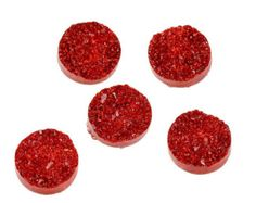 20 Red Resin Dome Seals Cabochon Round 12mm, 7541, 771, 700a by vickysjewelrysupply. Explore more products on http://vickysjewelrysupply.etsy.com