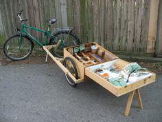 super cool bike trailer / kiosk