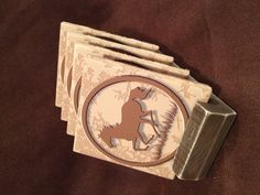 Tile coasters with stand