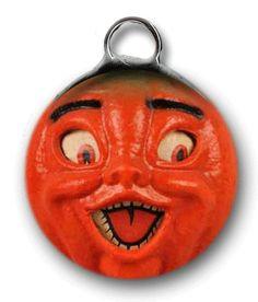 Vintage Pumpkin Lantern (Orange Funny)