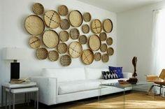 15 Creative Home Wall Decor Ideas To Make Your Home Interior More Beautiful — Decor & Design Baskets On Wall, Woven Baskets, Hanging Baskets, Home Wall Decor, Bedroom Decor, Creative Home, Cool Walls, Interior Design, House Styles