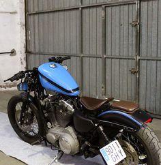 TARMAC CUSTOM MOTORCYCLES: Harley Davidson Sportster Nightster Bobber #motorcycles #bobber #motos | caferacerpasion.com