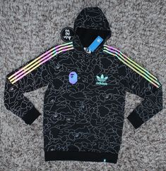 21f71c59 Adidas x Bape Snowboarding Tech Hoodie Pullover Reflective XS S Extra Small  New #adidas #