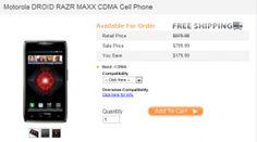 Motorola DROID RAZR MAXX CDMA Available for Pre-order at CellHut