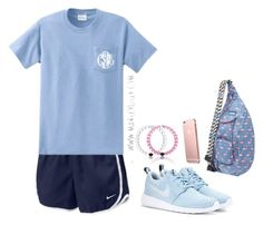 """Read d!"" by harpgirl913 ❤ liked on Polyvore featuring NIKE and Kavu"
