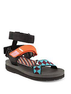 Prada - Teva Strappy Grip-Tape Sandals
