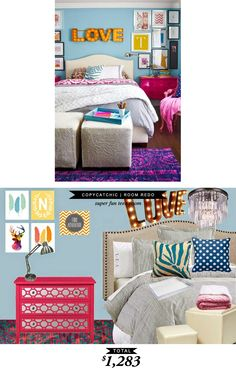 A colorful and fun teen room for $1283 by @lindseyboyer for Copy Cat Chic