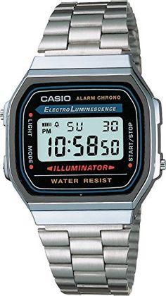Casio A168WA-1 Classic Wrist Watch A168WA-1 Watches Casio Silver Watch,  Silver c6e7d7b14a