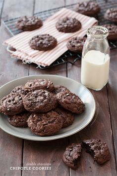 Double Chocolate Chipotle Cookies @Lindsay Dillon Landis | Love and Olive Oil