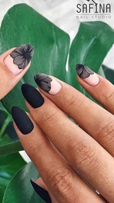 Minimalist Nails, Fancy Nails, Diy Nails, Gorgeous Nails, Pretty Nails, Nail Deco, Gel Nagel Design, Nagel Gel, Flower Nails