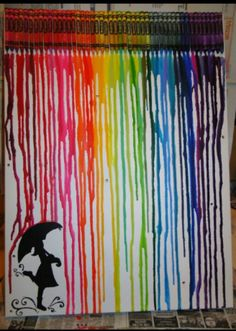 26 best Ideas for painting girl with umbrella crayon art Diy Tumblr, Tumblr Art, Projects For Kids, Art Projects, Crafts For Kids, Diy Crafts, Crayon Crafts, Crayon Art, Rainbow Crayon