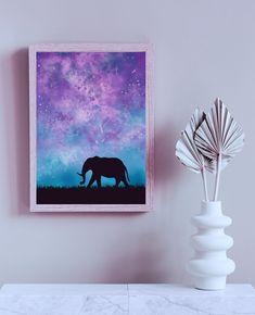 Magical Elephant Print, Digital Fantasy Painting of an Elephant von TerraSomniaArt auf Etsy Fantasy Kunst, Fantasy Paintings, Elephant Print, Poster Prints, Etsy, Digital, Frame, Animals, Art