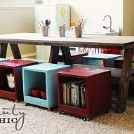 This is an awesome idea for Homeschool storage Love this idea!