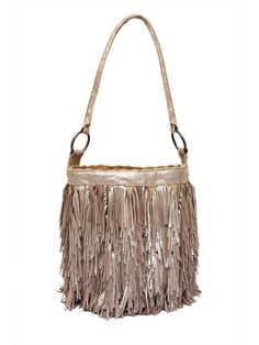 Colombian Clothing Styles | Colombian gold suede fringe shoulder bag