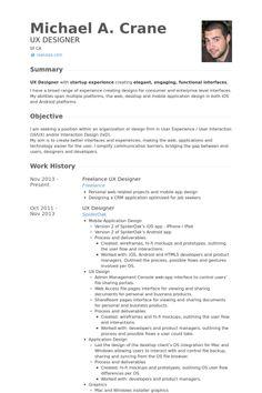 Freelanceuxdesignerresume Example Png 400 600 Resume Design Resume Ux Researcher