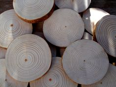 30ud. rodajas de madera, pino silvestre de 10 a 13 cm // slices of wood, pine...3,9 - 5,1 in de madeMadera en Etsy