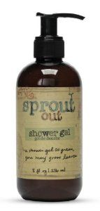 """Sprout Out Sulfate-Free Shower Gel, 8oz. by Sprout Out. $16.00. A fusion of natural elements blended to personify nature and the environment; featuring exclusive Naturally Kind™ formulations. The green citrus and herbal fragrance perfectly captures the scent of a leisurely stroll through an English garden. Hand-drawn type and fanciful prose on each label impart not only a personal touch, but personality. Sprout Out® Sulfate-Free Shower Gel is """"a shower gel so..."""