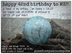 Birthday sale through 9.21.14