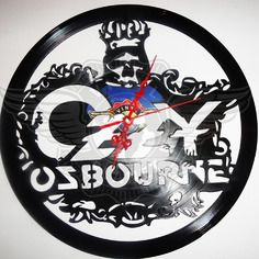 24,00 € Horloge vinyle décoration Ozzy Osbourne Ozzy Osbourne, Clock Art, Wall Clocks, Record Art, Scroll Saw, Boutique, Vinyl Art, Etsy, Vintage