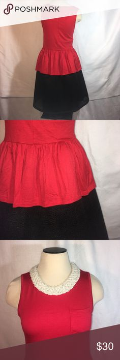 Red sleeveless top + black skater skirt Both are new with tags attached. Selling as a set. Add any item or items to a bundle for a private discount. 😊 *ship same/next day *no holds/trades *pet free *smoke free home Skirts Circle & Skater
