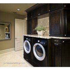 Laundry Room Design Ideas   Photos / Pictures Of Laundry Rooms Include Ideas  On Countertops, Cabinets, Lighting For Laundry Rooms In The Home / House