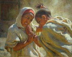 Étienne Dinet - La dispute (1904)