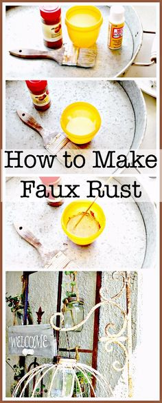 How to make faux rust with nutmeg and mod podge