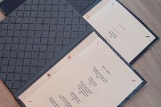 Menu designed by Uniform for Oslo brasserie Festningen