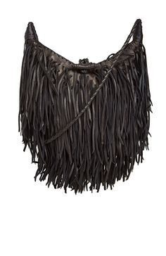 Moon Fringe Purse Handbags Black Beaded Purses Leather