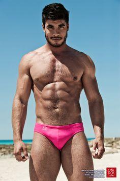 BOOM Pink (new color) - Swimwear collection 2015 - Photo: Roberto Chiovitti - Model: Milo Alejandro - Swimsuit: Little Rok Original - www.littlerok.com - https://www.facebook.com/LittleRokOriginal - #LittleRok #LittleRokOriginal #BestSwimwear #Boom #Comics #speedo #Summer2015 #pink