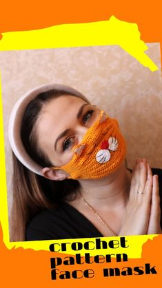 Easy crochet Face Mask PATTERN PDF, Face mask and Dust rave mask with fit an extra filter or gauze. Crochet Animal Patterns, Crochet Patterns Amigurumi, Crochet Dolls, Crochet Faces, Crochet Mouse, Etsy Handmade, Handmade Ideas, Handmade Crafts, Rave Mask