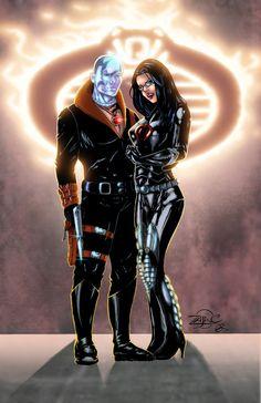 Destro & The Baroness - G.I. Joe - line art: Richard Zajac, color: Chris Summers