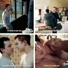 "[gifset] #Gallavich Love Mickey calling Ian ""Tough Guy"""