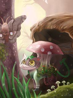 Minor Moss Dragon Illustration