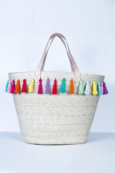 Kiki Rainbow Strip Tote