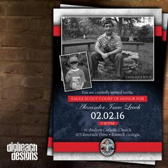 Eagle Scout Court of Honor Invitation: by DigileachDesigns on Etsy