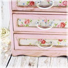 French Country Pink shabby chic vintage look by Alenahandmade, $73.00