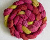 Zinnia colorway wool roving #EasyNip