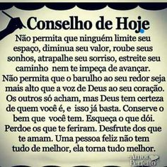 🤗🌷 gostei demais do conselho de hoje, quando tu tocas o meu coração ganha um beijo no bochecha. 🌸🍂🌼🍂🌸🌷🌷🍂🌹obrigada At Home Workout Plan, At Home Workouts, Life Quotes Inspirational Motivation, Improve Yourself, God, Thoughts, Humor, How To Plan, Sayings