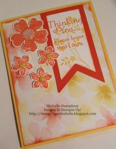 Thinking of You - STS#11 by stampingshelle - Cards and Paper Crafts at Splitcoaststampers