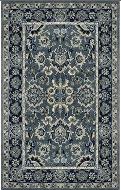 The Olivia Area Rug from Home Decorators Collection is beautifully ornate with colors that match modern palettes.