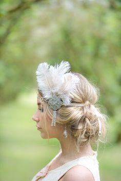 1920s headpiece bridal wedding ideas http://www.maruphoto.ca/